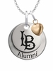 California State Long Beach 49ers Alumni Necklace with Heart Accent