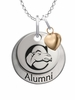 Campbell Fighting Camels Alumni Necklace with Heart Accent