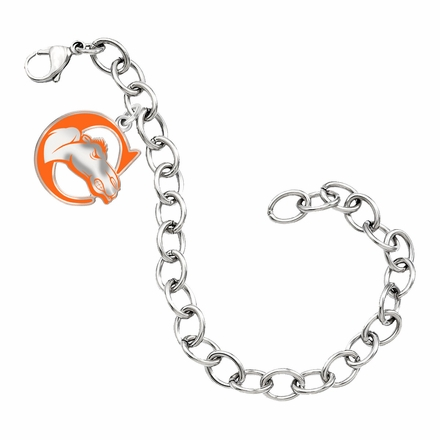 Campbell Fighting Camels Color Logo Charm Bracelet
