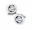 Campbell Fighting Camels Cufflinks Stainless Steel Round Top
