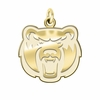 Central Arkansas Bears 14K Yellow Gold Natural Finish Cut Out Logo Charm