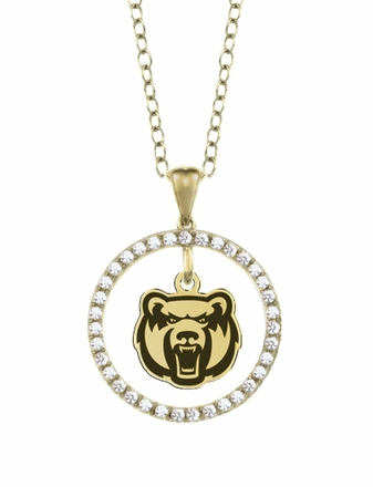 Central Arkansas Bears Gold and Diamond Circle Pendant
