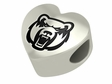 Central Arkansas Bears Heart Shape Bead