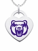 Central Arkansas Bears Logo Heart Pendant With Color