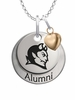 Central Connecticut Blue Devils Alumni Necklace with Heart Accent