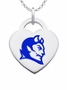 Central Connecticut Blue Devils Color Logo Heart Charm