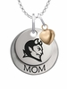 Central Connecticut Blue Devils MOM Necklace with Heart Charm