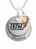 Central Florida Knights Alumni Necklace with Heart Accent
