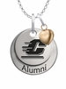Central Michigan Chippewas Alumni Necklace with Heart Accent