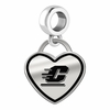 Central Michigan Chippewas Border Heart Dangle Charm