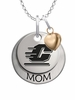 Central Michigan Chippewas MOM Necklace with Heart Charm