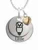 Chi Omega LITTLE Necklace with Heart Accent