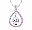 Chi Omega Pink Figure 8 Necklace