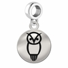 Chi Omega Sterling Silver Round Drop Charm