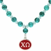 Chi Omega Turquoise Drop Necklace