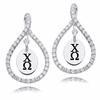 Chi Omega White CZ Figure 8 Earrings