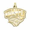 Christopher Newport Captains 14K Yellow Gold Natural Finish Cut Out Logo Charm