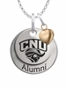 Christopher Newport Captains Alumni Necklace with Heart Accent