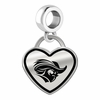Christopher Newport Captains Border Heart Dangle Charm