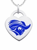 Christopher Newport Captains Color Logo Heart Charm