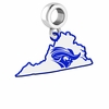 Christopher Newport Captains Logo Dangle Charm