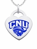 Christopher Newport Captains Logo Heart Pendant With Color