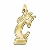 Cincinnati Bearcats 14K Yellow Gold Natural Finish Cut Out Logo Charm