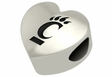 Cincinnati Bearcats Heart Shape Bead