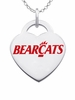 Cincinnati Bearcats Logo Heart Pendant With Color