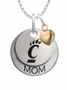 Cincinnati Bearcats MOM Necklace with Heart Charm