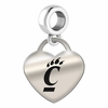 Cincinnati Bearcats Heart Dangle Charm