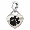 Clemson Tigers Heart Dangle Charm