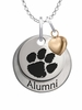 Clemson Tigers Alumni Necklace with Heart Accent