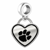 Clemson Tigers Border Heart Dangle Charm