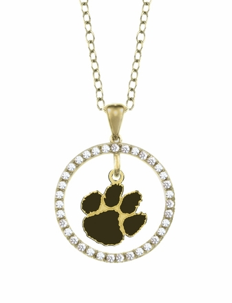 Clemson Tigers Gold and Diamond Circle Pendant