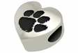 Clemson Tigers Heart Shape Bead
