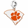 Clemson Tigers Logo Dangle Charm