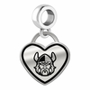 Cleveland State Vikings Border Heart Dangle Charm