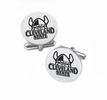 Cleveland State Vikings Cufflinks Stainless Steel Round Top