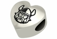 Cleveland State Vikings Heart Shape Bead