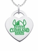 Cleveland State Vikings Logo Heart Pendant With Color
