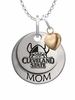 Cleveland State Vikings MOM Necklace with Heart Charm