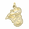 Coastal Carolina Chanticleers 14K Yellow Gold Natural Finish Cut Out Logo Charm