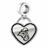 Coastal Carolina Chanticleers Border Heart Dangle Charm