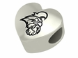 Coastal Carolina Chanticleers Heart Shape Bead