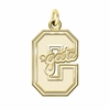 Colgate Raiders 14K Yellow Gold Natural Finish Cut Out Logo Charm
