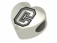 Colgate Raiders Heart Shape Bead