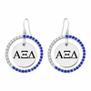 Color CZ Circle Style Sorority Earrings