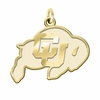 Colorado Buffaloes 14K Yellow Gold Natural Finish Cut Out Logo Charm