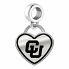 Colorado Buffaloes Border Heart Dangle Charm